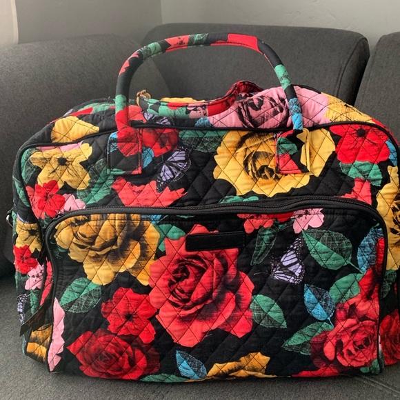Vera Bradley Handbags - Vera Bradley Weekender Havana Rose
